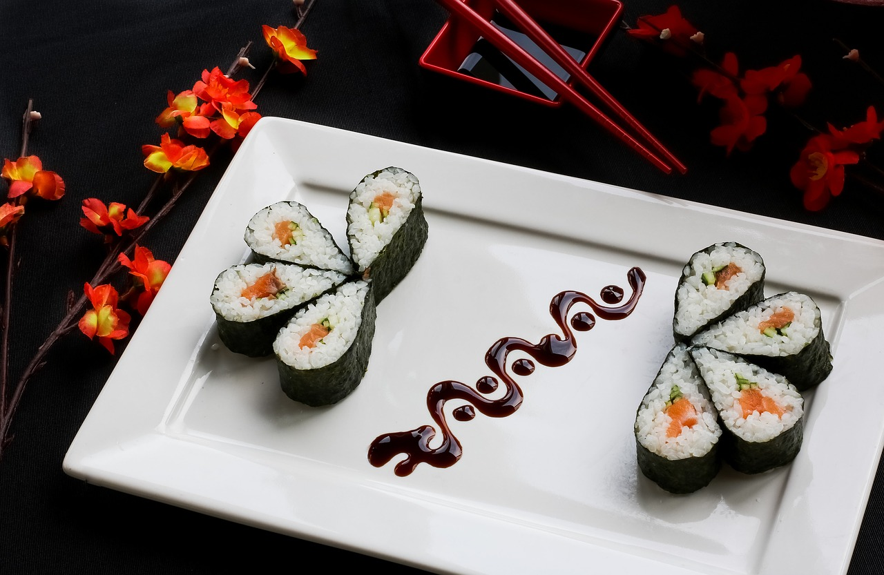 sushi, japanese food, japanese